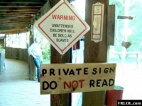 Stop Reading My Sign! -