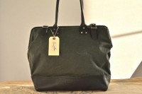 Billy hunter green waxed canvas and black leather by sidneyandsons