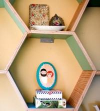 diy project: honeycomb storage shelves   Design*Sponge