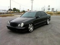 Mercedes-Benz Tuning Blog: Mercedes-Benz W210 Black on R19 rims