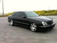 Mercedes-Benz Tuning Blog: Mercedes-Benz W210 Black on R19 rims