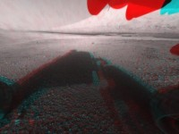 Curiosity's first stereo view from Mars