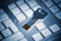 USB Stick Key on Keyboard | Stock Photo | iStock