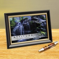 ATTITUDE WATERFALL FRAMED DESKTOP PRINT image by Successories - Photobucket