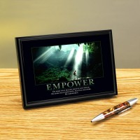 EMPOWER CAVE FRAMED DESKTOP PRINT image by Successories - Photobucket