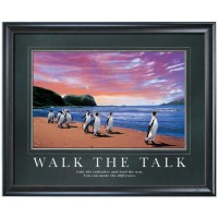 WALK THE TALK MOTIVATIONAL POSTER image by Successories - Photobucket