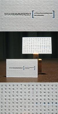 A unique letterpress business card by Dolce Press — Business Card Design Ideas