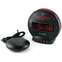 ThinkGeek :: Sonic Bomb Alarm Clock with Bed Shaker