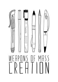 weapons of mass creation Art Print by Bianca Green | Society6