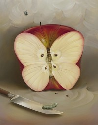 Vladimir Kush - butterfly-apple