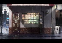 cityscapes rain architecture alone urban buildings illustrations city lights anime girls - Wallpaper (#2923) / Wallbase.cc