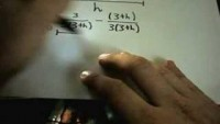Calculating a Limit by Getting a Common Denominator - YouTube