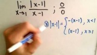 Limits Involving Absolute Value - YouTube