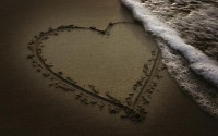 sand,beach beach sand sea hearts 1920x1200 wallpaper – Beaches Wallpapers – Free Desktop Wallpapers