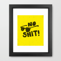No Shit Shades! Framed Art Print by Nick Nelson | Society6