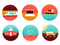 Icons for map by Brandon Land
