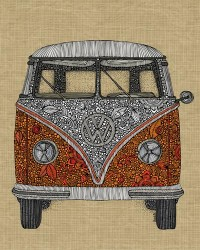 The camper Art Print by Valentina | Society6