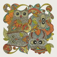 4 Owls Art Print by Valentina | Society6