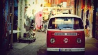 red vintage volkswagen vintage cars volkswagen van 2304x1296 wallpaper High Quality Wallpapers,High Definition Wallpapers