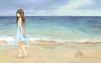 beach sand anime kazuharu kina 2560x1600 wallpaper High Quality Wallpapers,High Definition Wallpapers
