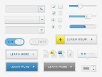 Ui Elements (Free PSD) by Matthew Daniels