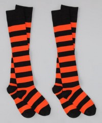Spirit Socks Black & Orange Knee-High Socks | Daily deals for moms, babies and kids