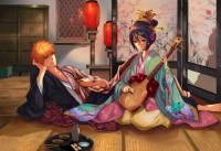 blue,black blue black music flowers food bleach kurosaki ichigo kimono sushi guitars kuchiki rukia orange hair – blue,black blue black music flowers food bleach kurosaki ichigo kimono sushi guitars kuchiki rukia orange hair – Bleach Wallpaper – Desktop Wallpaper