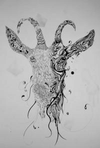 Goat Art Print by Joe Groom | Society6