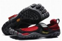 treksport vibram mens sneaker black red