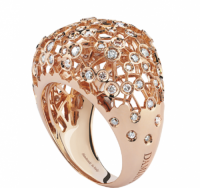 DAMIANI VIA LATTEA ANELLO IN ORO ROSA CON DIAMANTI BROWN : (Montecchio Emilia)