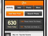 Final Activity View for Glue mobile web app by Jordan Dobson