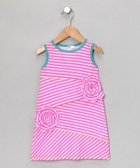 Neon Pink Stripe Shift Dress - Toddler & Girls | Daily deals for moms, babies and kids
