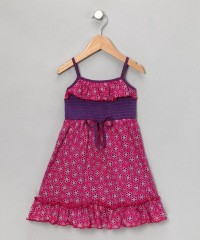 Fuchsia Burnout Daisy Dress - Girls | Daily deals for moms, babies and kids
