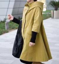 Breathing wind /spring hooded Coat /Splicing Threaded by MaLieb