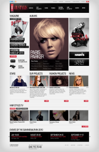 Peluquerias Hair Styles on Web Design Served