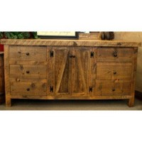 Alpine Heirloom Reclaimed Rustic Wood Dresser w/ Doors by Timber Designs - NC Rustic