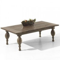 Reclaimed wood Coffee table Antique turning legs coffee table