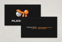 Pilates Center Business Card Template Sample | Inkd