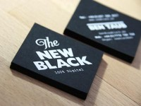 'The New Black' Business Cards by Hype & Slippers
