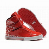shop supra tk shoes red white for women
