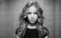 Jennifer Lawrence black and white HD Wallpaper | Magicwallpapers.net