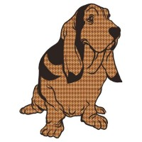 """Henry the Houndstooth Hound"" Stickers by drawsgood 