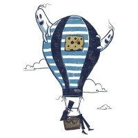 """Ride in a Hot Air Balloon"" Stickers by drawsgood 