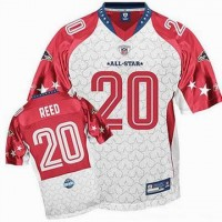 nfl baltimore ravens ed reed jersey 20 white 2009 pro bowl jersey online_p74831