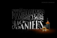 Jack Daniels Fan page on Typography Served