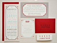 Tori Vintage Tag Wedding Invitation Suite with Belly by lvandy27