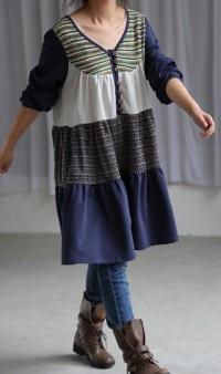 Leisure cotton long shirt dress by MaLieb on Etsy