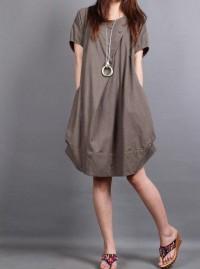cotton pleated Short sleeve dress shirt by MaLieb on Etsy