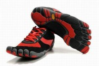 five fingers speed red black women barefoot running shoes