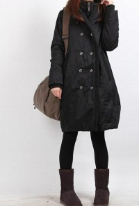winter hoodie babydoll padded Long tunic Quilted Coat by MaLieb